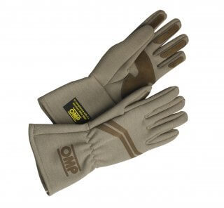 OMP Vintage Race Gloves Beige-0