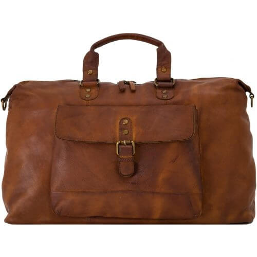 Spitalfields Large Leather Holdall-0