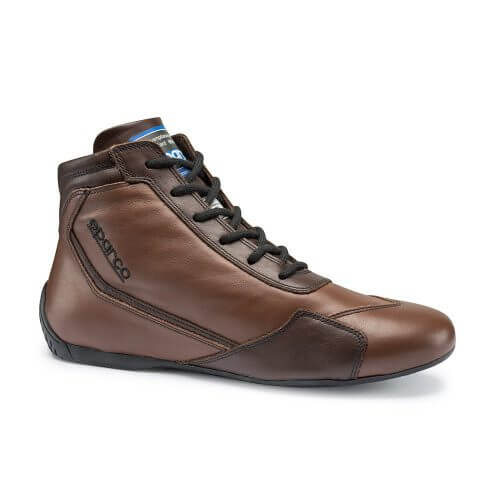 Brown race shoes
